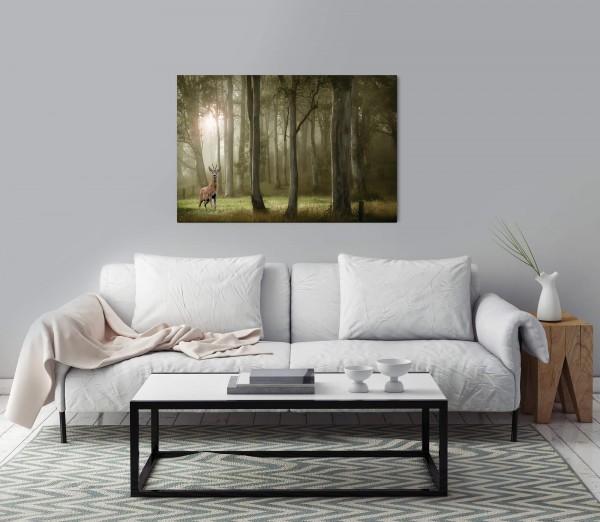 Wald mit Rehbock Wandbild in verschiedenen Größen