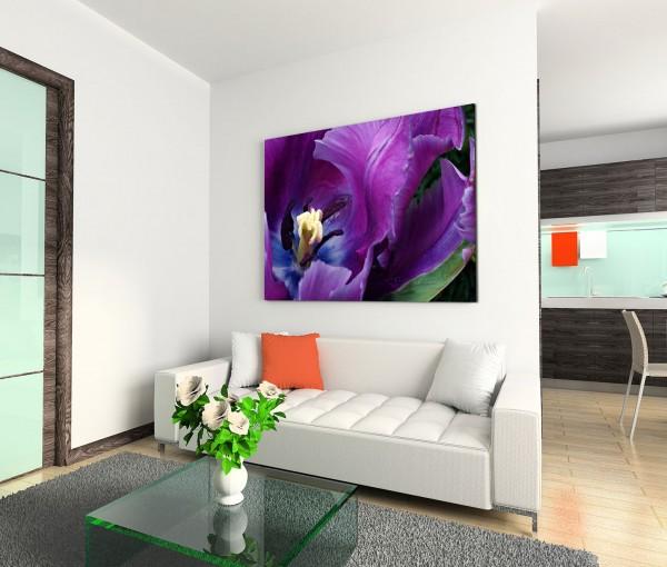 120x80cm Wandbild Tulpe Blüte Nahaufnahme