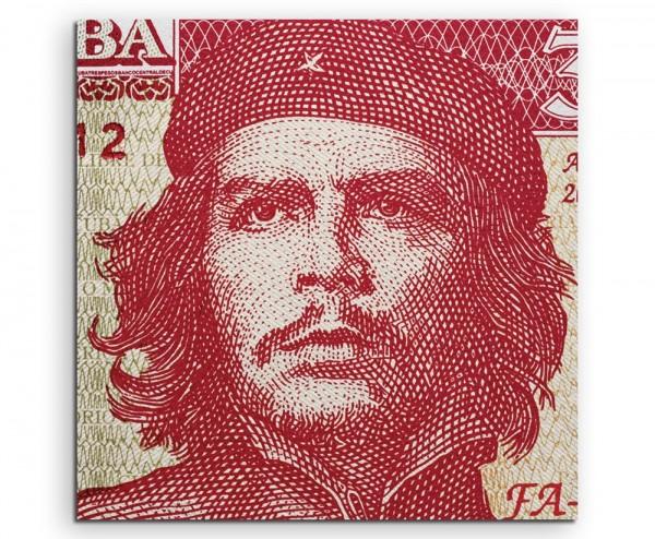 Ernesto Che Guevara Portrait auf kubanischem Geldschein auf Leinwand