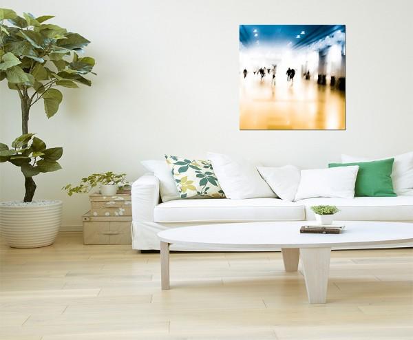80x80cm Menschen Hintergrund verschwommen abstrakt