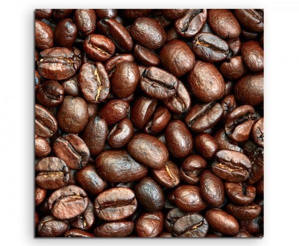 Food-Fotografie – Geröstete Kaffeebohnen auf Leinwand