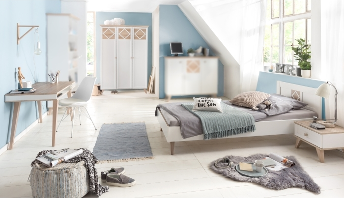 jugendzimmer victor 4tlg mit 90er bett m bel. Black Bedroom Furniture Sets. Home Design Ideas