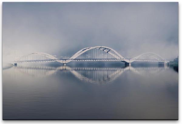 Brücke über einem Fluss Wandbild in verschiedenen Größen