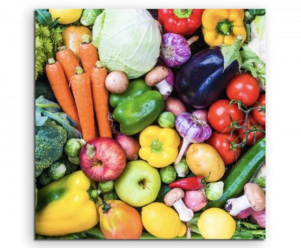 Food-Fotografie – Buntes Gemüse auf Leinwand