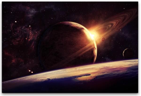 Planet Wandbild in verschiedenen Größen