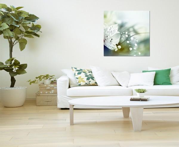 80x80cm Blume Blüte abstrakt Hintergrund