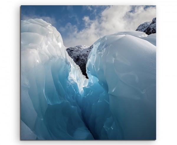 Landschaftsfotografie – Fox Gletscher, Neuseeland auf Leinwand