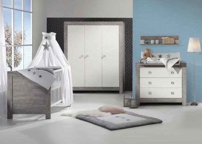 Babyzimmer Nordic Driftwood in Driftwood Grau und Weiß 6 teiliges Megaset von SCHARDT