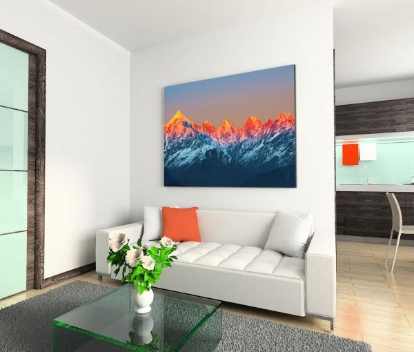 120x80cm Wandbild Indien Himalaya Gebirge Sonnenuntergang