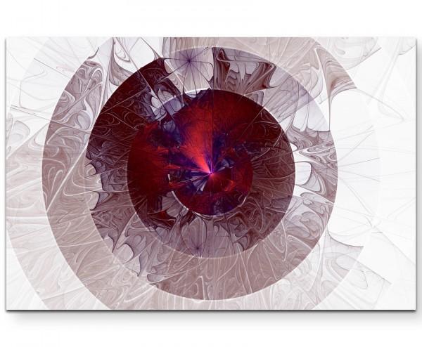 Abstraktes Bild – kreative Kreise in pink und violett - Leinwandbild