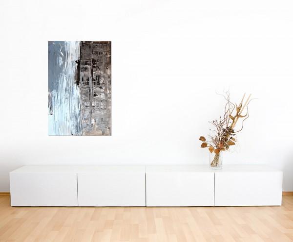 120x80cm Malerei Kunst abstrakt braun/grau