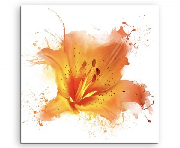 abstrakt modern chic chic dekorativ schön deko schön deko e Illustration – Orange Wasserlilie auf Le