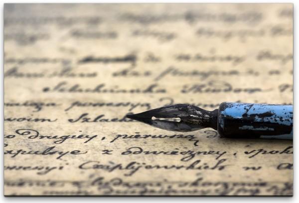 alter Brief mit Füller Wandbild in verschiedenen Größen