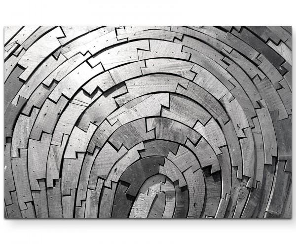 Abstrakte Texturen aus Holz - Leinwandbild