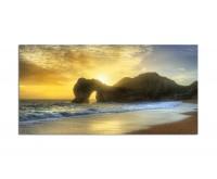 120x60cm Meer Ozean Sonnenaufgang Fels