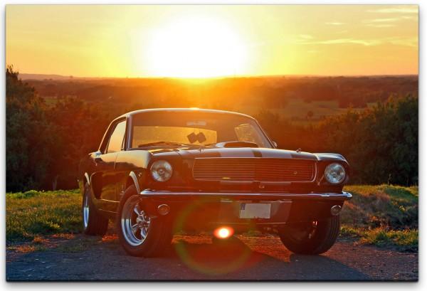 Ford Mustang 1966 Wandbild in verschiedenen Größen
