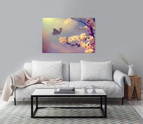 Schmetterlinge auf Ast Wandbild in verschiedenen Größen