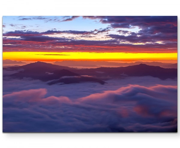 Nebel im Tal - Sonnenaufgang - Leinwandbild