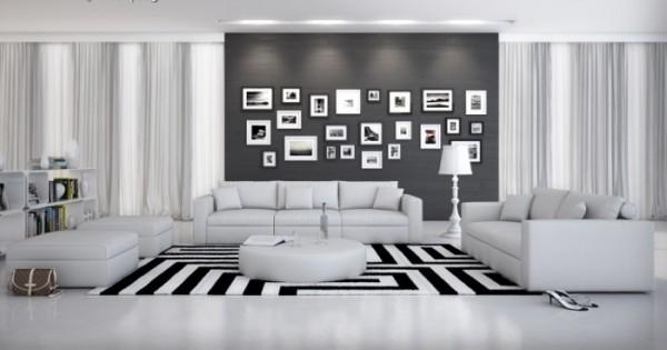 Couchgarnitur Rinaldi Weiß mit Tisch Innocent