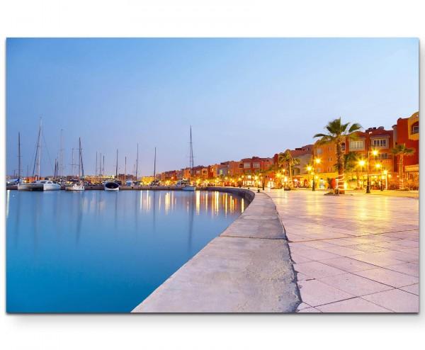 Fotografie – Hurghada Hafen - Leinwandbild