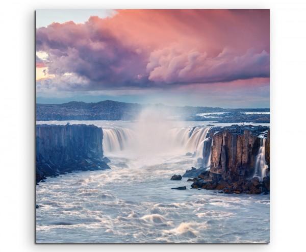 Landschaftsfotografie – Wasserfall im Jokulsargljufur Nationalpark, Island auf Leinwand