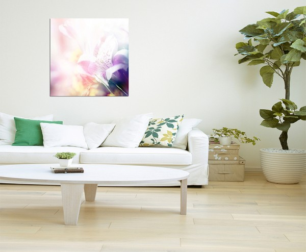 80x80cm Blüte Frühling Natur Hintergrund