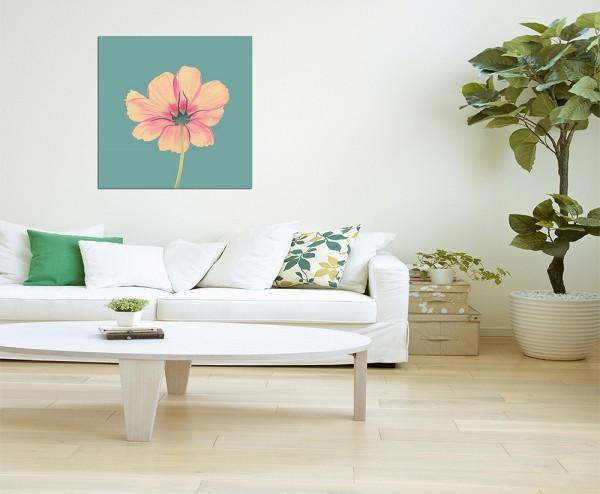 80x80cm Blüte Blume rosa makro