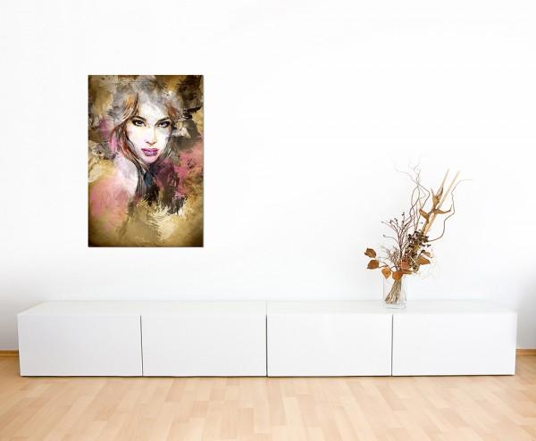 120x80cm Handmalerei Frau Gesicht Kunst