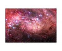 120x80cm Weltall Galaxie Sterne Planeten