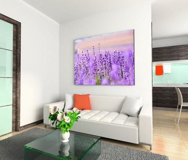 120x80cm Wandbild Lavendel Blumen