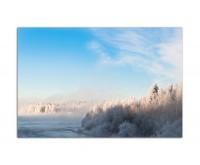 120x80cm Finnland Wald Bäume Schnee Winter