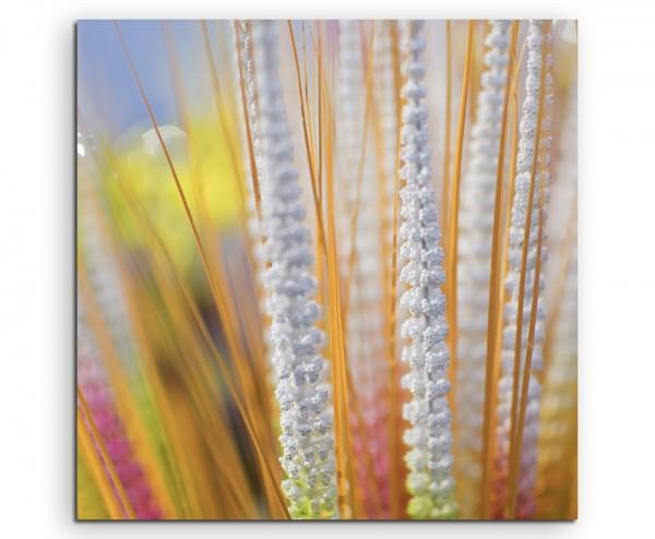 Naturfotografie – Künstliche Blumen aus Kalkutta auf Leinwand exklusives Wandbild moderne Fotografie