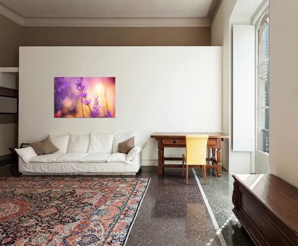 120x80cm Lavendel Sonnenuntergang floral