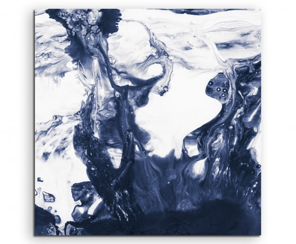 Naturfotografie – Blaues Wasser in Bewegung auf Leinwand exklusives Wandbild moderne Fotografie für