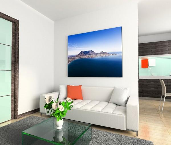 120x80cm Wandbild Südafrika Kapstadt Berge Meer
