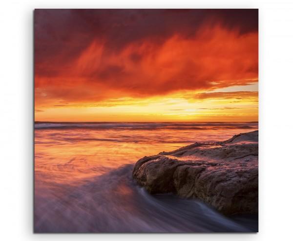 Landschaftsfotografie – Sonnenaufgang in Del Mar, Kalifornien, USA auf Leinwand
