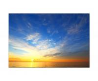 120x80cm Meer Himmel Sonne Wolkenschleier
