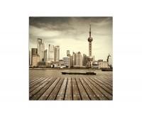 80x80cm Shanghai Skyline Turm