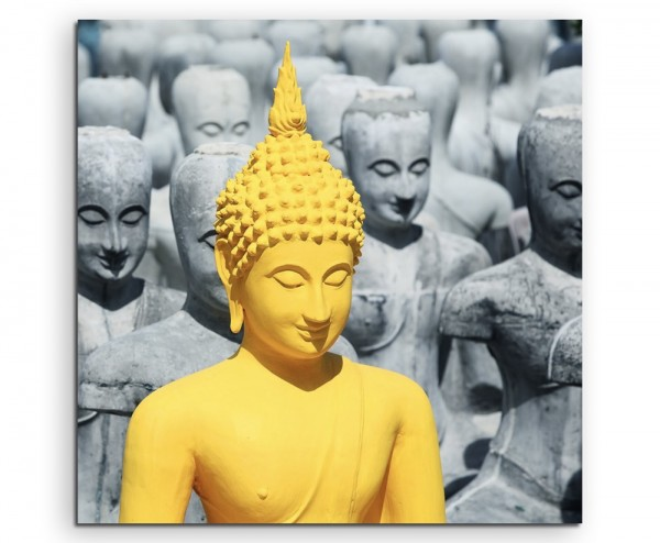 Künstlerische Fotografie– Buddha Statue auf Leinwand