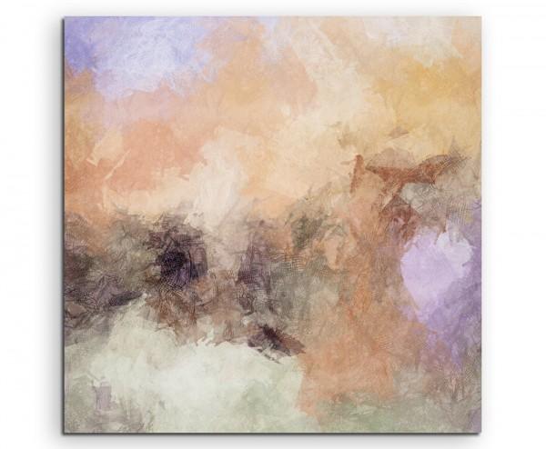 Abstraktes Gemälde in Nude, Schwarz und Weiß auf Leinwand