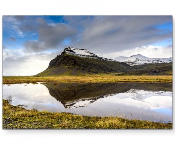 Berge in Island - Leinwandbild
