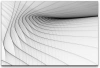 schwarze Streifen auf weißem Hintergrund Wandbild in verschiedenen Größen