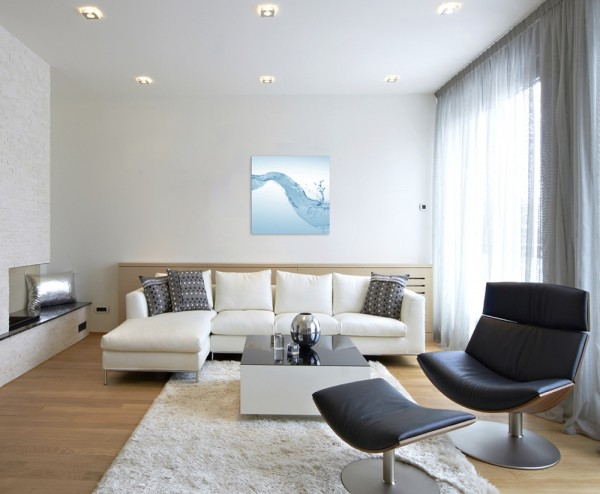 Künstlerische Fotografie – Wasserspritzer auf Leinwand exklusives Wandbild moderne Fotografie für ih