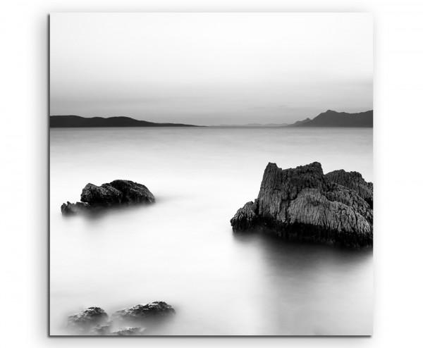 Landschaftsfotografie – Sonnenaufgang an der Adria auf Leinwand