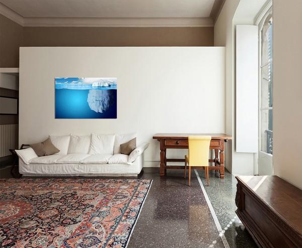 120x80cm Wasser Eisberg Natur Unterwasser