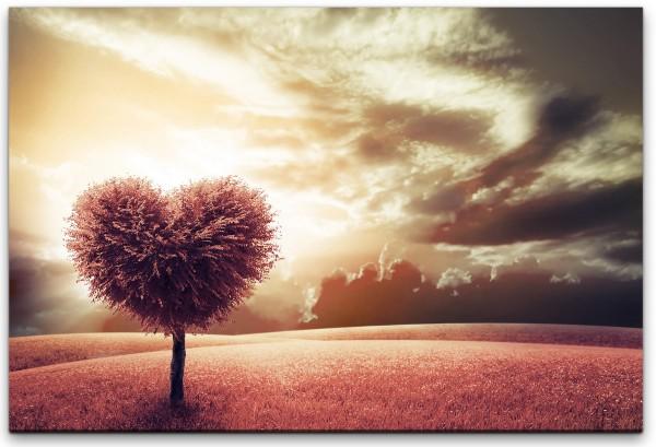 Herzförmiger Baum Wandbild in verschiedenen Größen