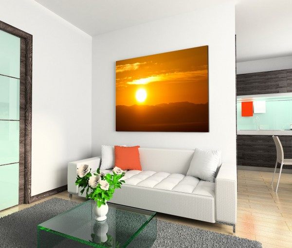 120x80cm Wandbild Afrika Berge Natur Sonnenuntergang