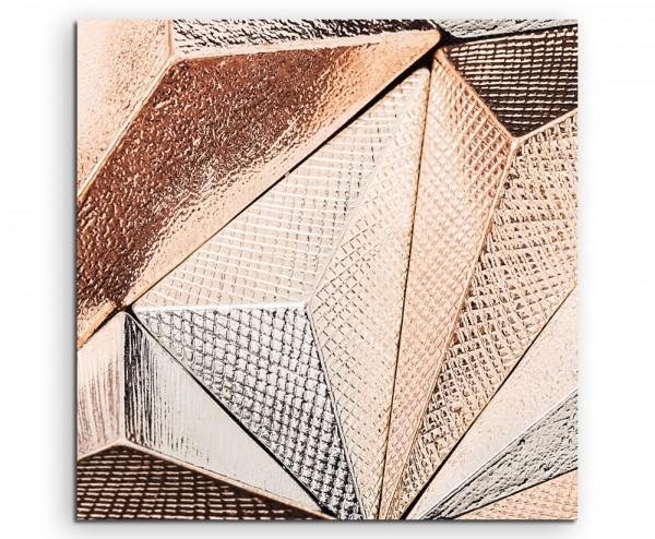 Künstlerische Fotografie – Metallische Geometrie auf Leinwand