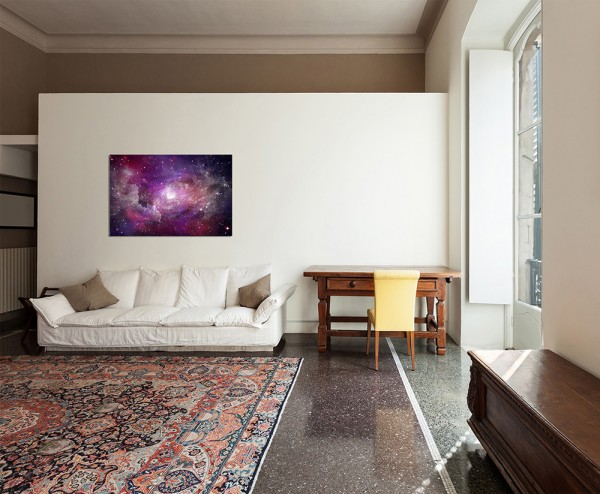 120x80cm Sterne Planet Weltall Galaxie