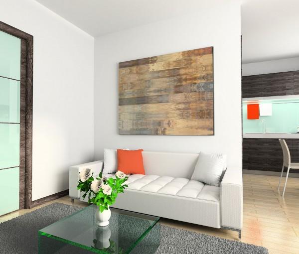 120x80cm Wandbild Hintergrund abstrakt braun grau beige